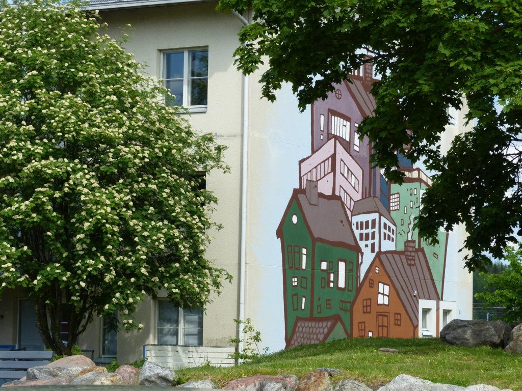 Muraali Oikokatu 21 Riihimäki